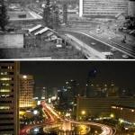 Postantografia di città. Giacarta prima (1965) e dopo (2005)