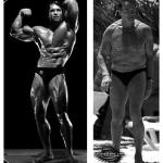 Postantografia di corpi. Arnold Schwarzenegger prima e dopo