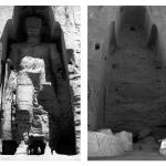 Postantografia spirituale. Il Budda di Bamiyan prima e dopo aver realizzato che l'essenza di tutte le cose è il nulla