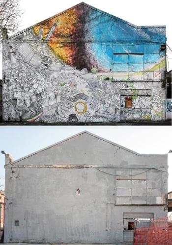 Postantografia di protesta. L'opera #OccupyMordor di Blu prima e dopo la cancellazione da parte dell'artista